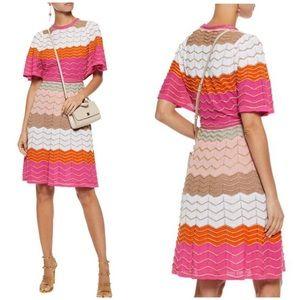 M Missoni gold metallic knit dress